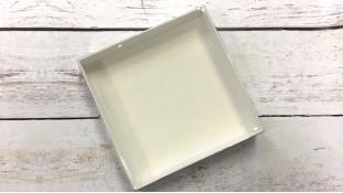 Коробка 15х15х3 см, с прозрачной крышкой
