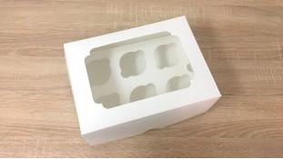Коробка для 6 капкейков, с окошком