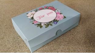 Коробка для эклеров и десертов For You Бирюзовая