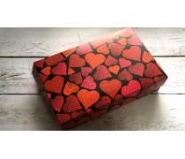 Коробка для эклеров и десертов Красные Сердца