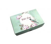 Коробка для эклеров и десертов With Love Бирюзовая