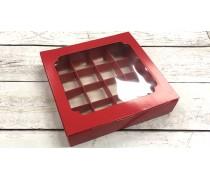Коробка для конфет, 16 штук, красная