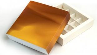 Коробка для конфет 16 штук, Золото