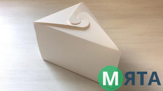 Коробка для кусочка торта, белая