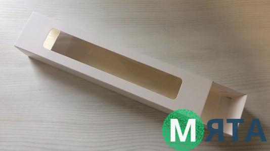 Коробка для макаронсов 30х6х5 см, белая