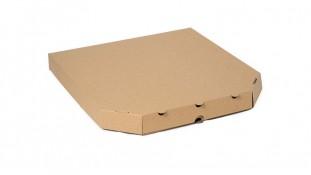 Коробка для пиццы 30х30х4, Бурая
