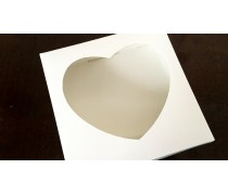 Коробка для пряников 15х15х3 см, окошко-сердце
