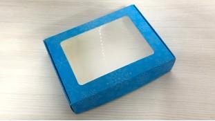 Коробка для пряников 15х20 см, Голубая Снежинка