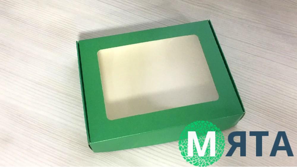 Коробка для пряников 15х20 см, Зеленая