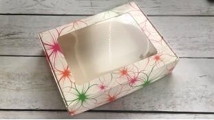 Коробка для пряников 15х20х4 см, Яркие Цветы