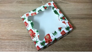 Коробка для пряников Новогодние подарки, 15х15х3 см