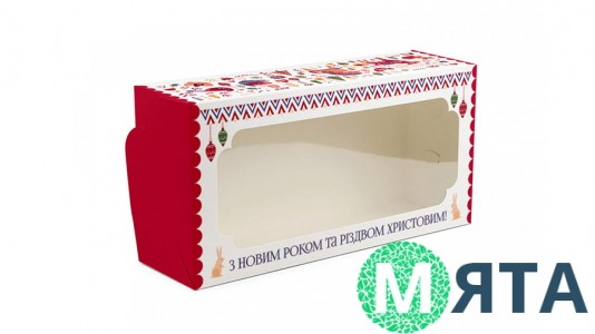 Коробка для штоллена, рулета 30х15х9 см