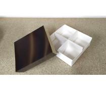 Коробка для сладостей 16х16х5,5 см, Шоколад
