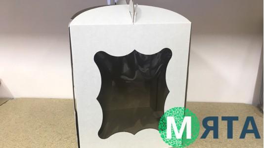 Коробка для торта 25х25х30 с окном