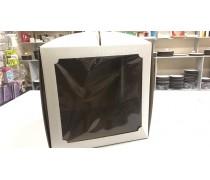 Коробка для торта 30х30х30 квадратное окно