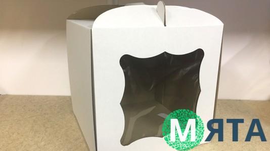 Коробка для торта 30х30х30 с окном