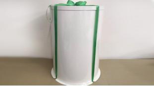 Коробка для торта круглая, с белой стенкой