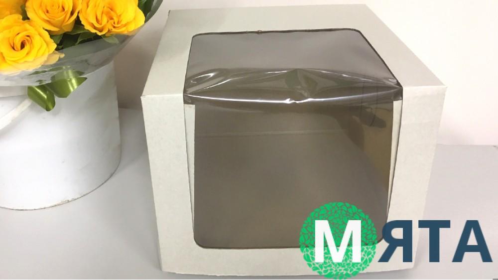 Коробка для торта с окном 25х25х20
