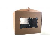 Коробка для торта с окном 30х30х25, Крафт