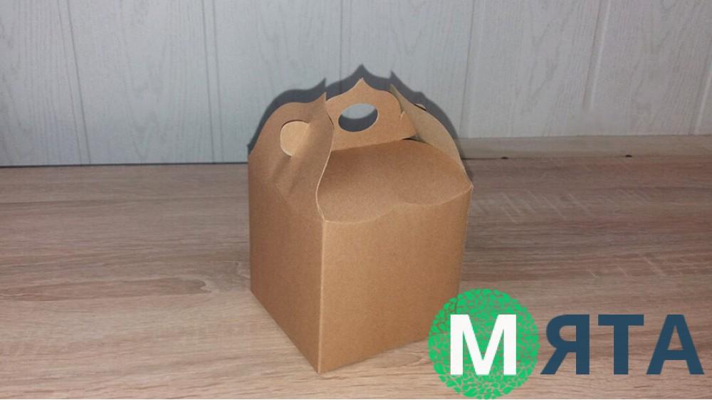 Коробка крафт 10х10х12 см