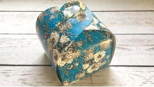 Коробка Лепесток 11х11х11 см, Синий Орнамент