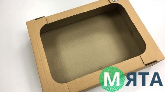 Коробка-лоток для кондитерских изделий 33х22х10 см