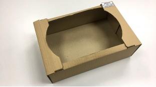 Коробка-лоток для кондитерских изделий 38х28х9 см