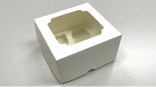 Коробка на 4 капкейка 17х17х10 см