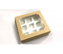 Коробка на 9 капкейков, Крафт