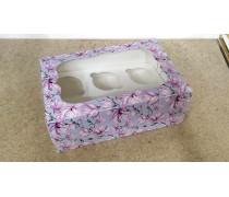 Коробка с окошком для 6 капкейков, Магнолия