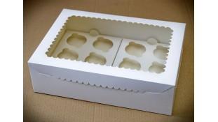 Коробка с окошком на 12 капкейков