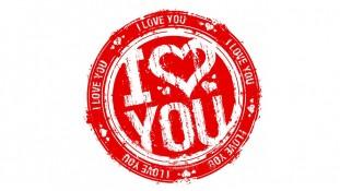 Наклейка I Love You, 18 шт