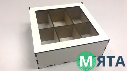Деревянная коробка 18х18х6 см,