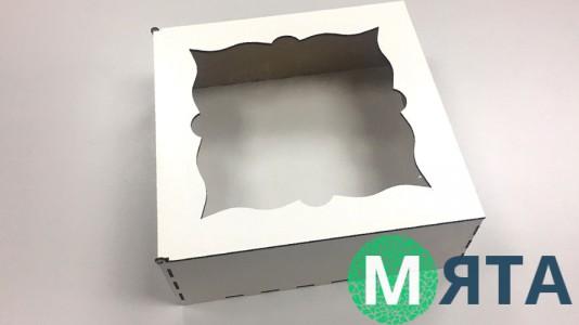 Деревянная коробка для торта 30х30х11 см,