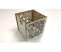 Деревянная коробка Куб 12х12х12 см, Вензель