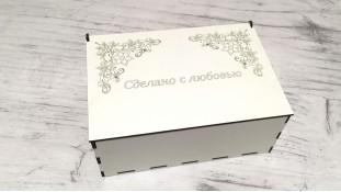 Коробка для десертов, белое двп