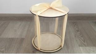 Прозрачная коробка для пасхи, фанера