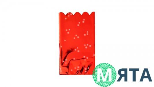 Пакет металлизированный Красный, 20х30 см