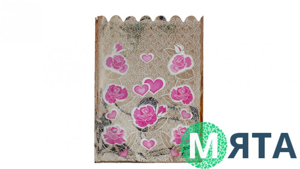 Пакет Сердца-Розы, 25х35 см