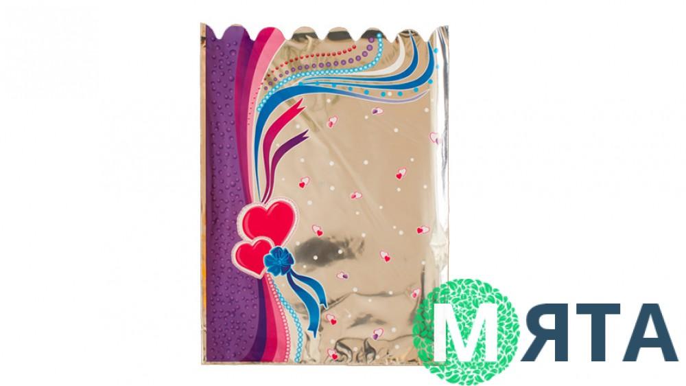 Пакет Сердечки, 25х35 см