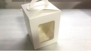 Пасхальная коробка 14х14х18 см, Белая