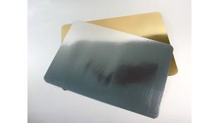 Подложки под торт квадратные, золото/серебро