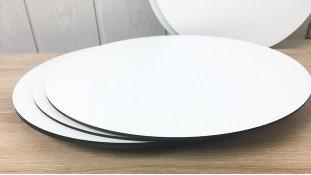 Подставки круглые, двп с белым покрытием
