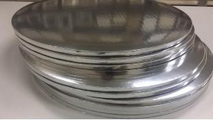 Подносы круглые, серебро/серебро