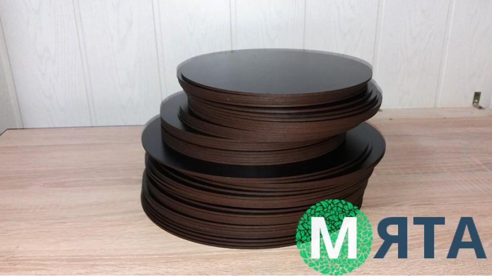 Подставки круглые, двп с черным покрытием