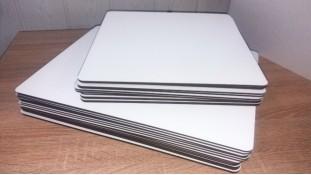Подставки прямоугольные, двп с белым покрытием