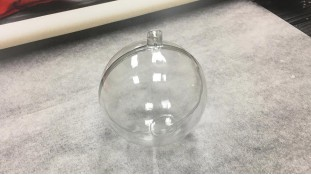 Прозрачный шар Ёлочная игрушка 8см