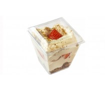Стаканчики для десертов Пирамида с крышкой, 200 мл