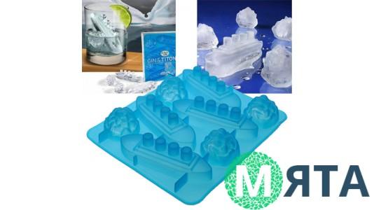 Силиконовая форма для льда и конфет Подводные лодки