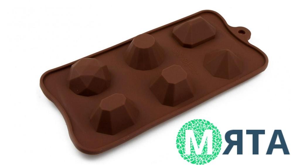 Силиконовая форма для льда и конфет Драгоценные камни
